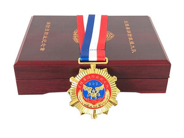 消防员纪念奖章礼盒